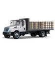 Truck flatbed vector image vector image