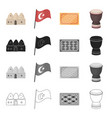 turkey attributes tourism and other web icon in vector image vector image