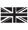 uk flag grayscale vector image