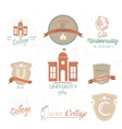 University Emblems And Symbols - Isolated On White vector image vector image