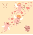Valentines Day romantic background with cute vector image vector image