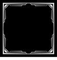 white frame on a black background vector image vector image
