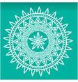 white mandala green background image vector image
