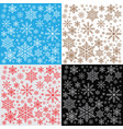 winter snowflakes background pattern vector image vector image