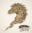 year the horse vector image