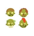 Zombie head Cartoon Character vector image