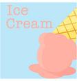 ice cream menu ice cream background image vector image