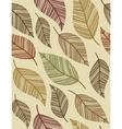 decorative vintage leaves seamless pattern vector image