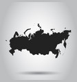 russia map icon flat russia sign symbol with vector image
