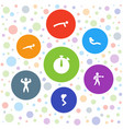 7 training icons vector image vector image