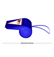 A Blue Whistle of American Samoa Flag vector image vector image