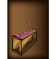 A Retro Marimba on Dark Brown Background vector image vector image