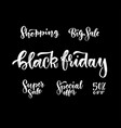 a set beautiful hand drawn black friday sale vector image vector image