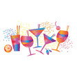 abstract minimal geometric colorful cocktail vector image