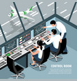 air control room background vector image vector image