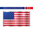 American flag in a metallic silver frame vector image vector image