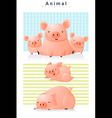 Animal background with Pigs 2 vector image vector image