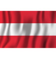 austria realistic waving flag national country vector image vector image