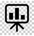 Bar Chart Display Icon vector image vector image