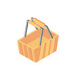 basket market online shopping isometric icon vector image