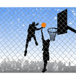 basketball in the street vector image