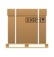 Big brown closed carton delivery box vector image vector image