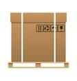 Big brown closed carton delivery box vector image vector image