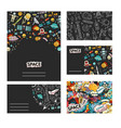 cards template cosmos vector image vector image