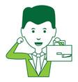 cartoon businessman icon vector image vector image