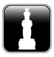 chess queen icon vector image vector image