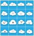 Cloud emotion icons set vector image vector image