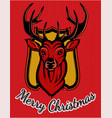 color editable greeting merry christmas card vector image