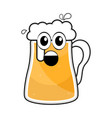 colored surprised beer mug icon vector image vector image