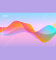 colorful dynamic vibrant wave background vector image