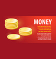 design a banner template on a theme of money vector image vector image