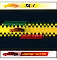 Driving school and taxi vector image