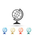 earth globe icon isolated on white background vector image vector image