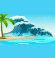 empty nature beach ocean coastal landscape vector image