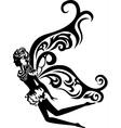 fairy stencil vector image vector image
