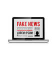 fake news design concept with online newspaper in vector image