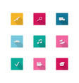 flat apps icon square shape with long shadow style vector image vector image