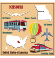 Flat map of Missouri vector image vector image