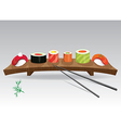Food sea set Sushi details of japanese cuisine vector image