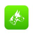 great dane dog icon digital green vector image vector image