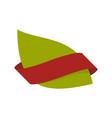 green leaf bio emblem sign for natural product vector image vector image
