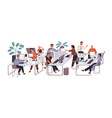 group office workers sitting at desks and vector image vector image