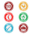 grunge restaurant stamps collection vector image