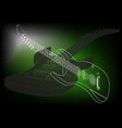 guitar on a green vector image vector image