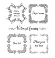 hand drawn flourish square frames collection vector image
