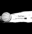 hand drawn grunge banners with basketball vector image vector image